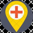Hospital Location Pin Icon