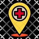 Pin Location Hospital Icon