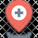 A Hospital Location Hospital Location Clinic Location Icon