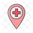 Hospital Pin Location Icon