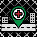Location Pin Hospital Icon
