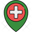 Hospital Location Pin Icon