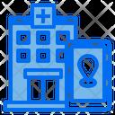 Hospital Location Healthcare Location Smartphone Icon