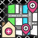 Hospital Location Clinic Location Medical Location Icon
