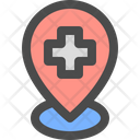 Hospital pin Icon