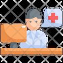 Doctor Desk Workstation Icon