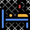 Bed Illness Injury Icon