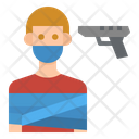 Hostage Kidnapping Crime Icon