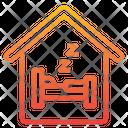 Hostel Holiday Hotel Icon