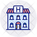 Hostel Building Camping Icon