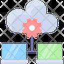 Hosting Data Center Database Icon