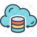 Hosting Data Cloud Icon
