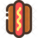Hot Dog Food Icon