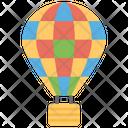 Hot Air Balloon Air Craft Fun Activity Icon