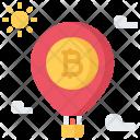 Balloon Takeoff Bitcoin Icon