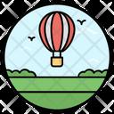 Hot Air Balloon Adventure Aircraft Icon