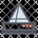 Yacht Boat Canoeing Icon