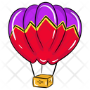 Hot Air Balloon Adventure Air Transport Icon