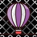 Hot Air Balloon Adventure Air Transport Icon