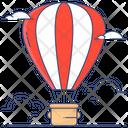 Parachute Hot Air Balloon Chute Icon