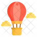 Hot Air Baloon Fire Ballon Parachute Ballon Icon