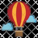 Hot Air Baloon Amusement Park Carnival Icon