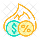 Cashback Percentage Color Icon