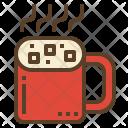 Hot Chocolate Marshmallow Icon