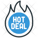 Hot Deal Discount Sale Icon