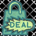 Hot Deal Shopping Hot Deal Bag Icon