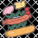 Hot Dog Fast Food Junk Food Icon
