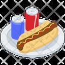 Hot Dog Sandwich Junk Food Fast Food Icon