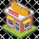 Hot Dog Shop Food Shop Food Point Icon