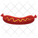 Hot Dog With Mustard Icon