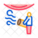 Worker Heating Stretch Icon