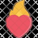 Hot Heart Heart Love Icon