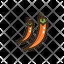 Hot Pepper Vegatable Vegatables Icon