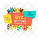 Hot Price Discount Tag Discount Label Icon
