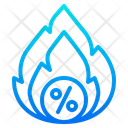 Hot Sale Hot Offer Fire Icon