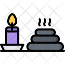Hot Stone Candle Icon