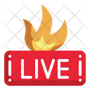 Fire Streaming Flame Icon