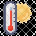 Hot Weather Summer Season Hot Temperature Icon