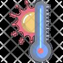 Hot Temperature Temperature Thermometer Icon