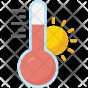 Hot Temp Temperature Icon