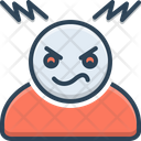 Hot Tempered Grumpy Angry Icon
