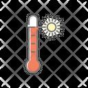 Hot Temprature Summer High Tempreture Icon