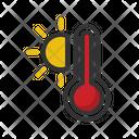 Sun Hot Temperature Icon
