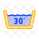 Water Temperature Washing Icon