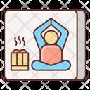 Hot Yoga Bath Icon