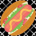 Hotdog Sandwich Sausage Icon